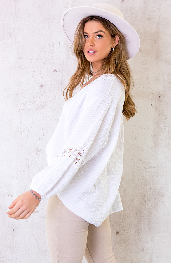 Oversized-Katoenen-Blouse-Wit-4