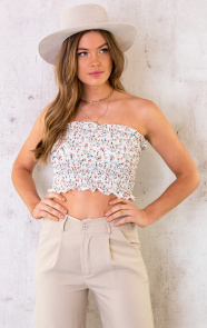 Smocked-Bandeau-Flower-Ecru-2