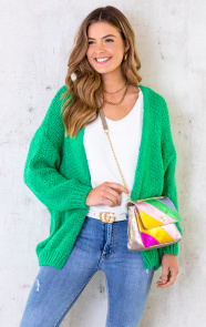 Oversized-Knitted-Vest-Bright-Green-1