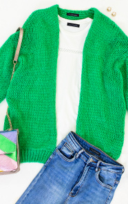 Oversized-Knitted-Vest-Bright-Green