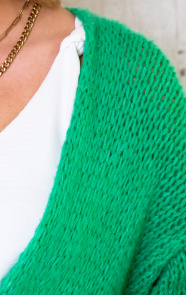 Oversized-Knitted-Vest-Bright-Green-2