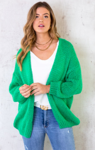 Oversized-Knitted-Vest-Bright-Green-5