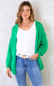 Oversized-Knitted-Vest-Bright-Green-6