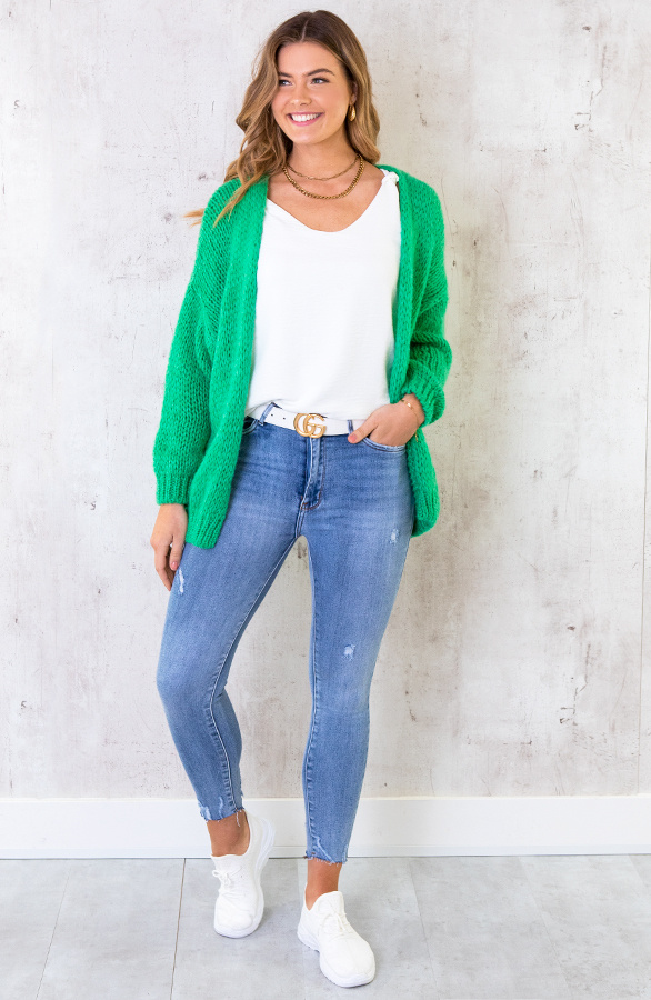 Oversized-Knitted-Vest-Bright-Green-7