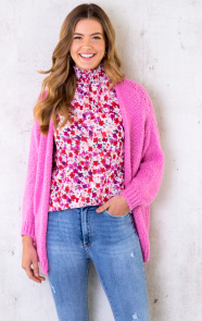 Oversized-Knitted-Vest-Candy-Pink-6