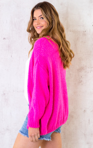 Oversized-Knitted-Vest-Neon-Pink-2