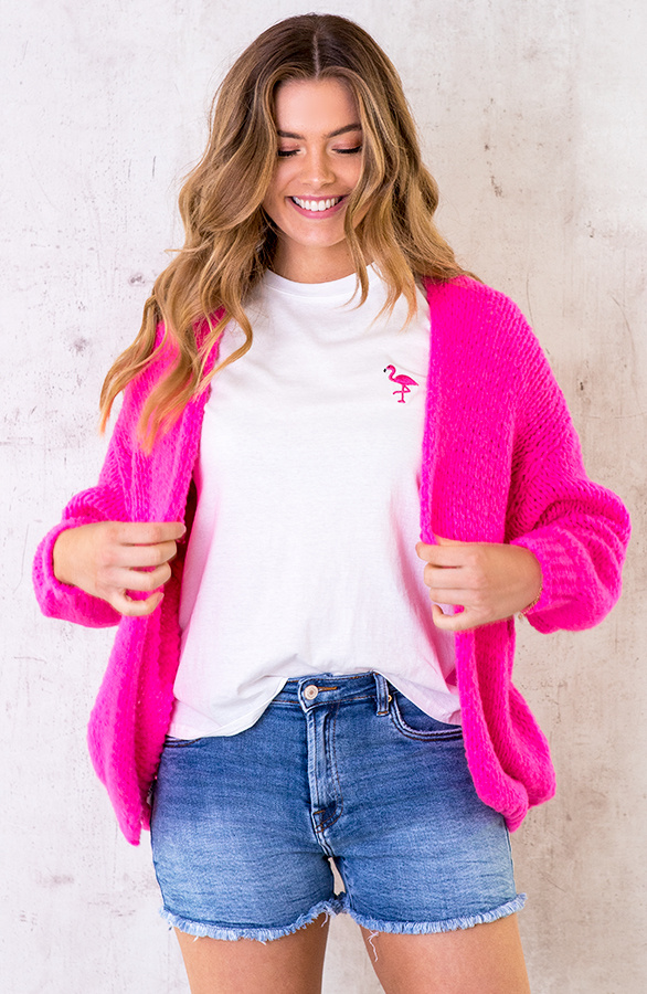 Oversized-Knitted-Vest-Neon-Pink-3