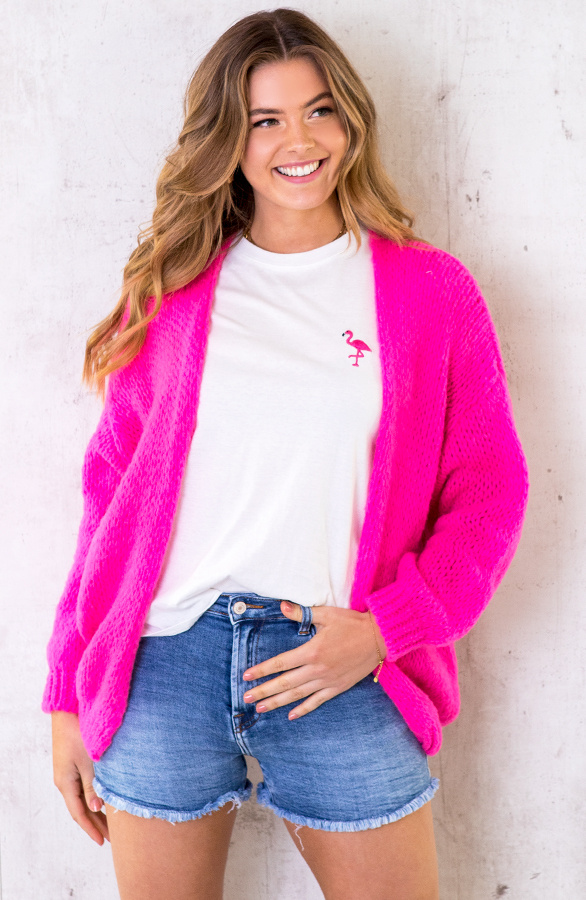 Oversized-Knitted-Vest-Neon-Pink-5