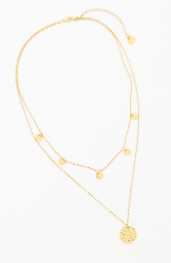 Coins Layer Ketting Goud