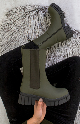 Chelsea Boots Long Army